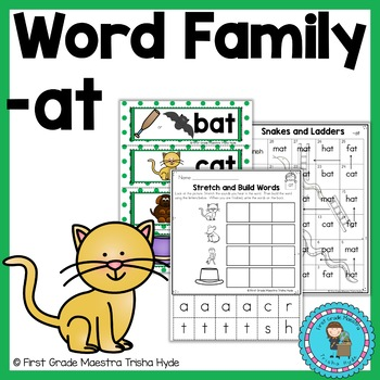 CVC Word Family Packet Word Family AT
