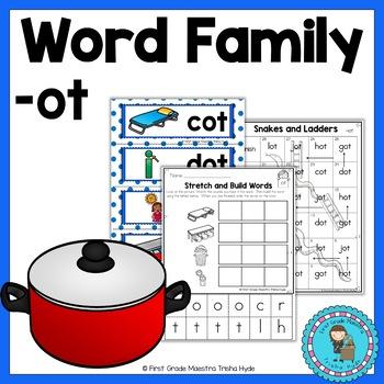OT Word Family Word Work
