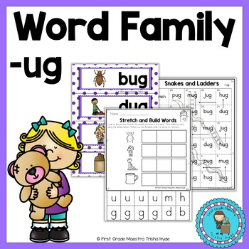 CVC Word Family Packet Word Family ug