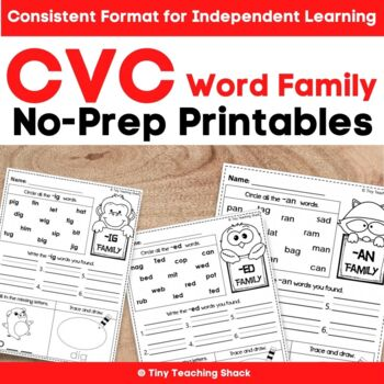 CVC Word Family (Phonics) Printables