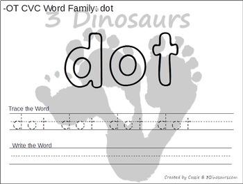 CVC Word Family Playdough Mats with Tracing & Writing