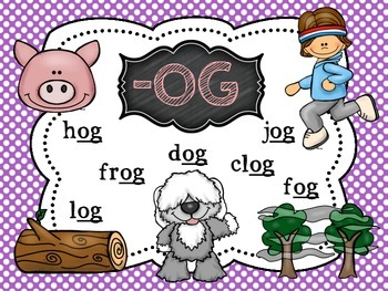 CVC Word Family Posters with Pictures