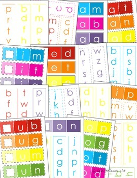 CVC Word Family Practice - Paint Chips