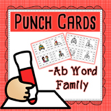 CVC Word Family Punch Activity: Ab Words