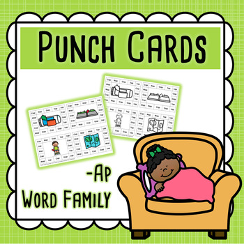 CVC Word Family Punch Activity: Ap Words