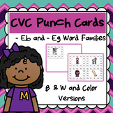 CVC Word Family Punch Activity: -Eg and -Eb Words