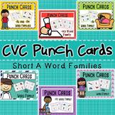 CVC Word Family Punch Activity: Short A Bundle