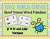 CVC Word Family Punch Activity: Short Vowel Review