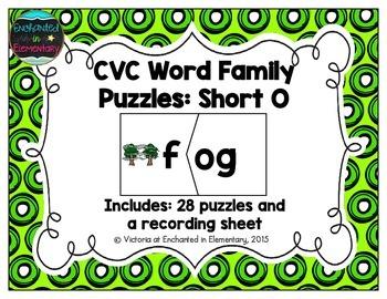 CVC Word Family Puzzles: Short O Set