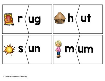 CVC Word Family Puzzles: Short U Set