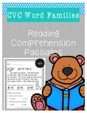 CVC Word Family Reading Comprehension