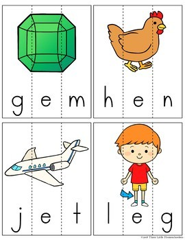 CVC Word Family Spelling Puzzles - 85 Words