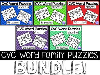 CVC Word Family Riddles Bundle