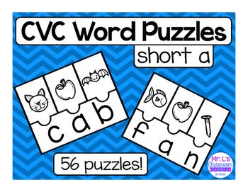 CVC Word Family Riddles - Short A