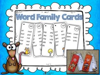 CVC Word Family Cards