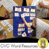 CVC Word Family Word Work Set