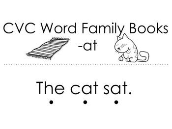 CVC Word Family Short Stories plus Comprehension
