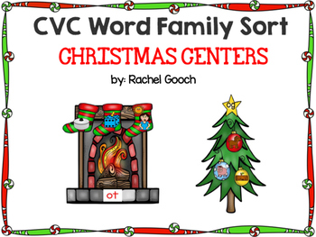 CVC Word Family Sort- Christmas