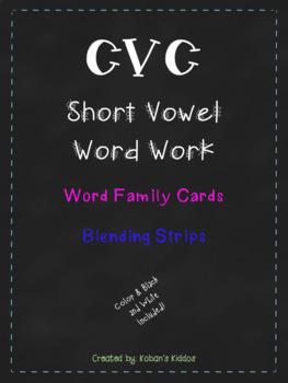 CVC Word Family Sort and Blending Strips BUNDLE