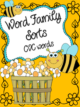 CVC Word Family Sorts