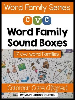 CVC Word Family Sound Boxes
