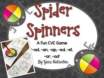 CVC Word Family Spider Spinners {K-G1}