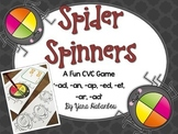 CVC Spin a Word Game - Spiders