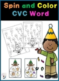CVC Word Family Spin and Color