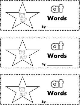 CVC Word Family Stamp Books - Short A Words