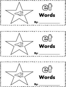 CVC Word Family Stamp Books - Short E Words