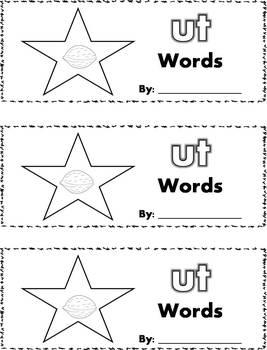 CVC Word Family Stamp Books - Short U Words