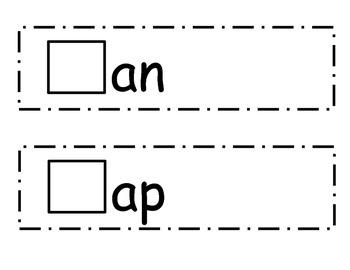 CVC Word Family Strips