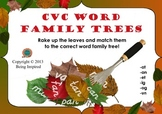 CVC Word Family Trees - A Fall Leaf Sorting Activity