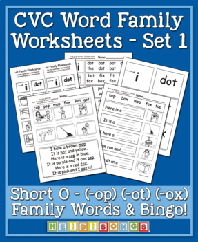 CVC Word Family Vol. 1 Short O