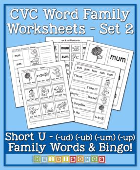 CVC Word Family Vol. 2 Short U