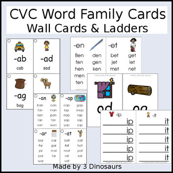 CVC Word Family Wall Cards & Ladders