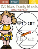 CVC Word Family Wheels