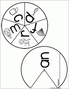 CVC Word Family Wheels