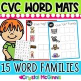 DOLLAR DEAL! CVC Word Family Word Mats and Letter Tiles (Literacy Center)