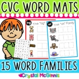 DOLLAR DEAL! CVC Word Family Word Mats and Letter Tiles (Literacy Center)