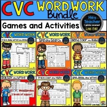 CVC Word Work: Activities, Games, and Printable Worksheets
