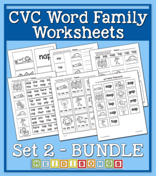 CVC Word Family Workbook Volume 2