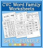 CVC Word Family Worksheets Volume 2