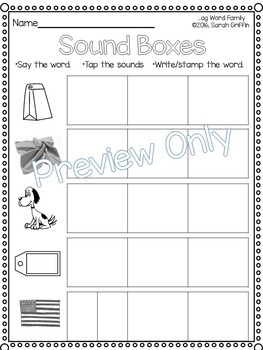 CVC ag Word Family Packet ~ Short a