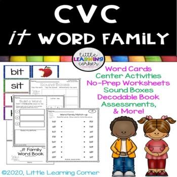 CVC it Word Family Packet ~ Short i