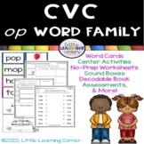 CVC op Word Family Packet ~ Short o