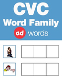 CVC Word Family -ad Word Family Workbooks and Games