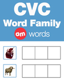 CVC Word Family -am Word Family Workbooks and Games