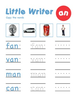 CVC Word Family -an Word Family Workbooks and Games