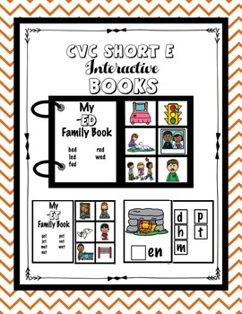 CVC Word Family and Phonemic Awareness Interactive Books Growing Bundle